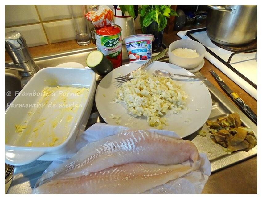 Parmentier de filets de merlan