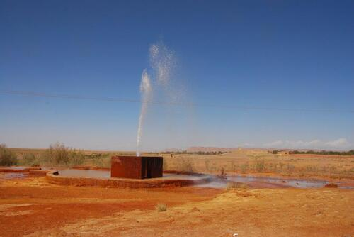 La source Ati, l'eau y est acide