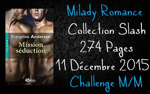 Mission Séduction , Evangeline Anderson [ Challenge M/M ]