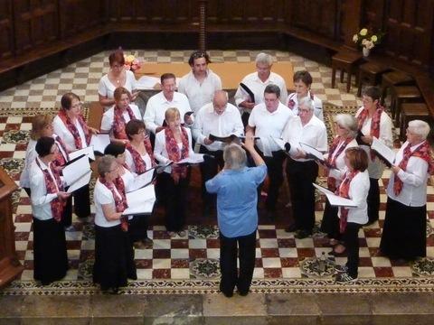 le groupe des choristes