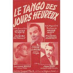 Le Tango des Jours Heureux !