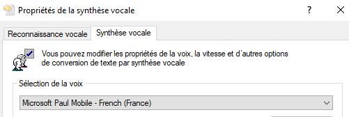 Voix de Microsoft Julie & Paul