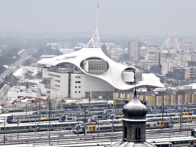 Le Centre Pompidou Metz chantier janvier 2 10 01 2010