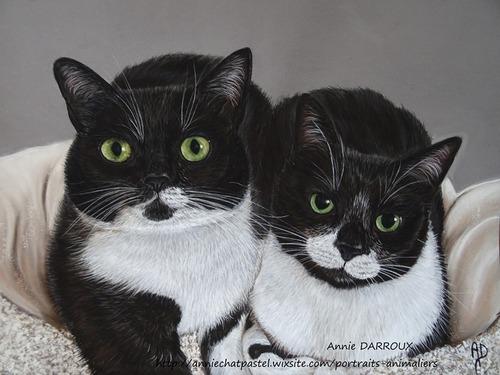 Tableau du samedi : Les belles Aru et Mina inséparables