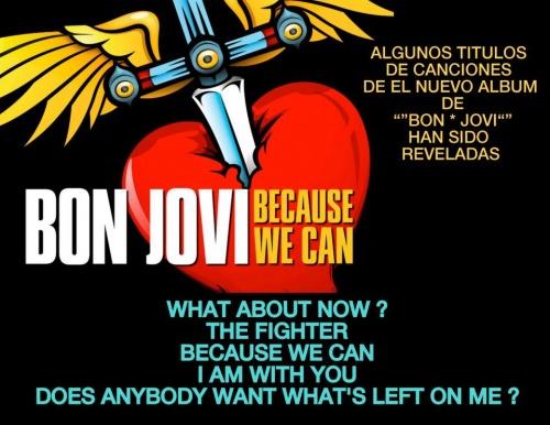 titres du futur album bonjovi pour 2013