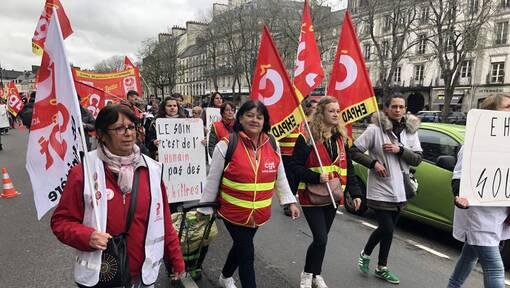Quimper. 750 personnes dans les rues pour la manifestation syndicale (OF.fr-19/03/19-15h46)