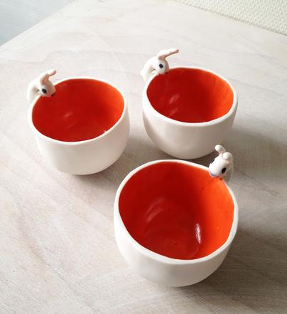 Les lapins en céramique, faïence ou porcelaine
