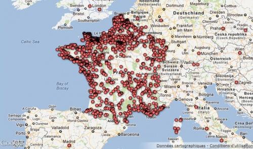 Carte du patrimoine immobilier de l'Etat