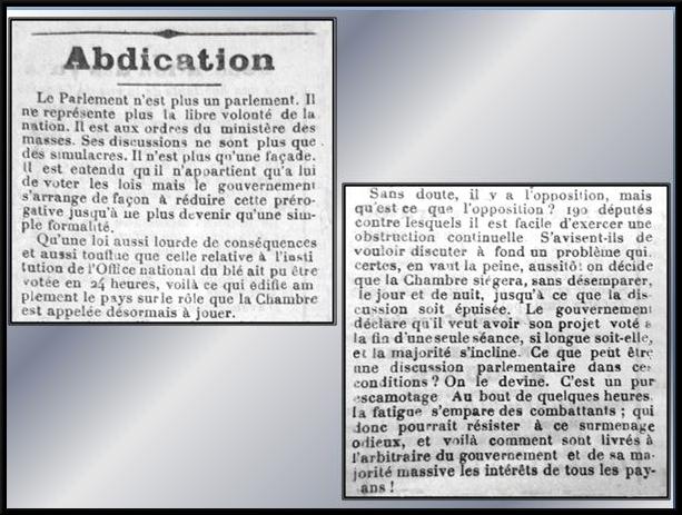 """Le Front Populaire vu par le """"Châtillonnais et l'Auxois"""" de 1936 (partie 2)"""