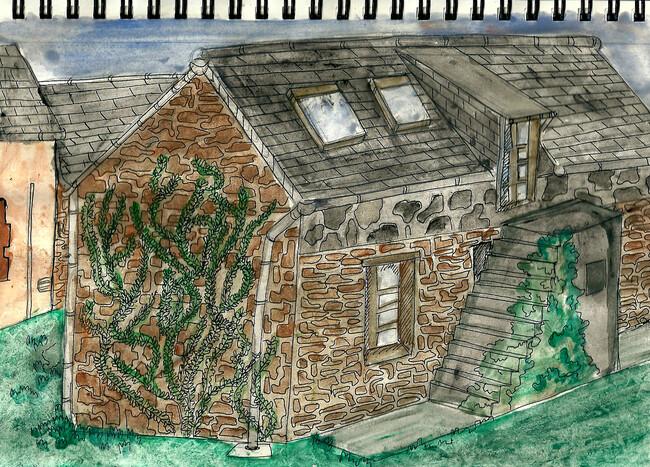 Un ravioli et une maison