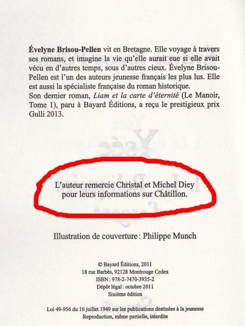 Une belle rencontre avec madame Evelyne Brisou-Pellen, auteur d' Ysée, un livre se passant à Châtillon sur Seine