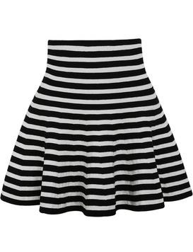jupe cascade à rayure -Noir blanc