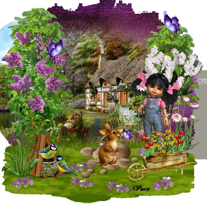 Défi 73:Lilas au jardin ..Votre galerie mes zamours ICI*