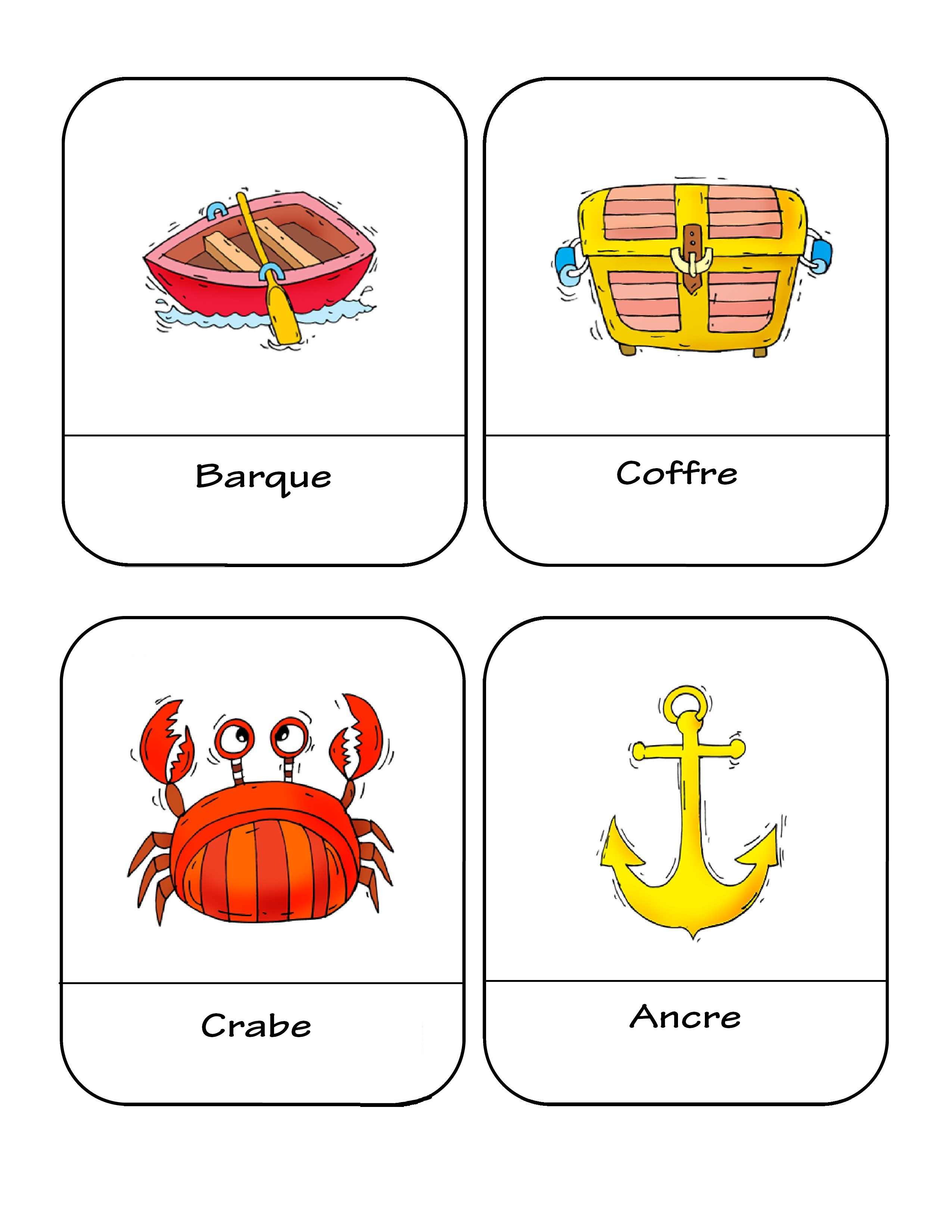 Piraci - słownictwo 1 - Francuski przy kawie
