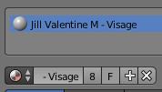 Le matériel Material17 a été renommé Jill Valentine M - Visage