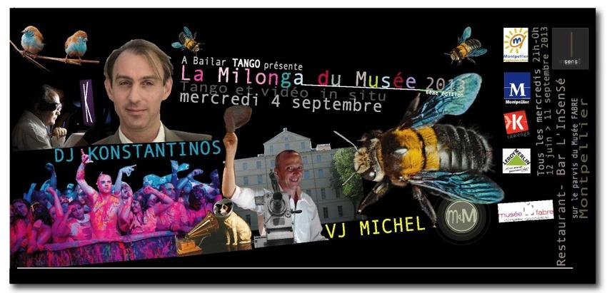 DJ KONSTANTINOS & VJ MICHEL mercredi 4 sept. à la Milonga du Musée