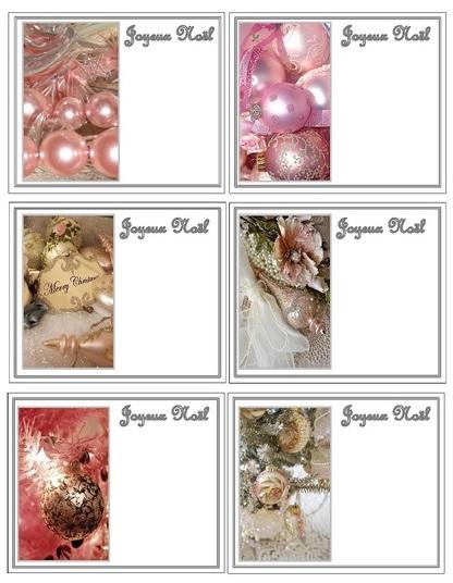 Petites cartes Noël shabby !