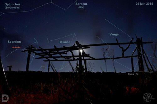 Ciel étoilé - Scorpion, Balance, Vierge, Ophiuchus
