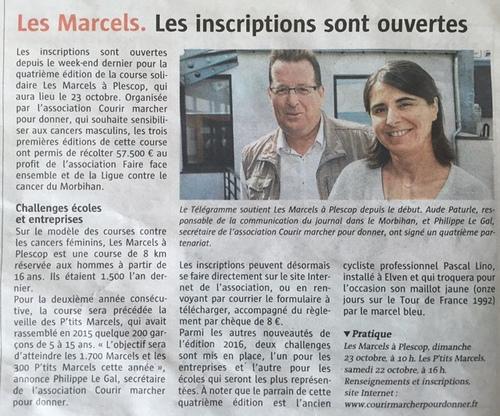 """Les """"Marcels à Plescop"""" - Revue de presse 2016 ..."""