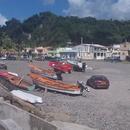 Le nouveau port et vue sur le bourg (Août 2013) - Photo : Domino