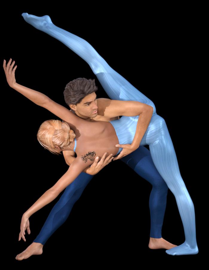 Tube couple danse moderne (render-poser)