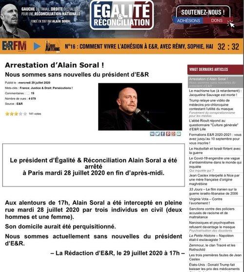 Arrestation d'Alain Soral
