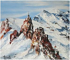 peinture chamonix aiguille du midi1