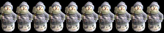 Barre de séparations bonshommes de neige