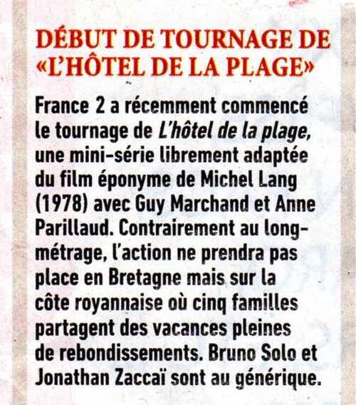 HOTEL DE LA PLAGE, 1977 / 2013