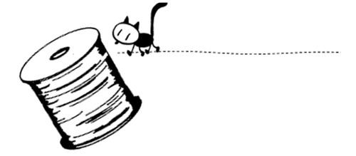 Chat noir et bobine