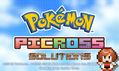 Pokémon Picross Solutions