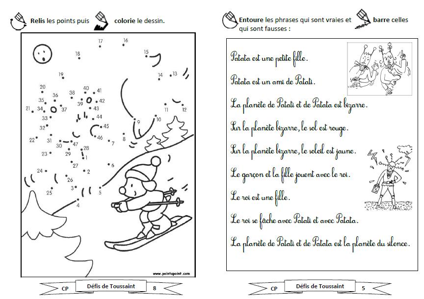 Exceptionnel Carnet de défis pour CP - vacances de la Toussaint - le stylo de vero RX29