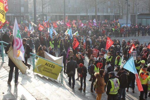 4 000 manifestants à Brest contre la réforme des retraites(cote-brest-24/01/20-12h08)