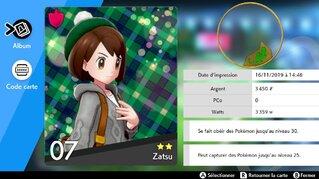 Carte dresseur  [Screenchot Pokémon Épée Bouclier]