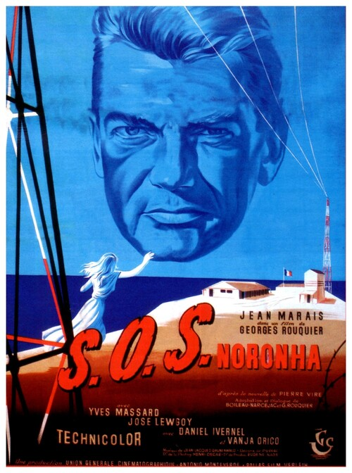 SOS NORONHA - BOX OFFICE JEAN MARAIS 1957
