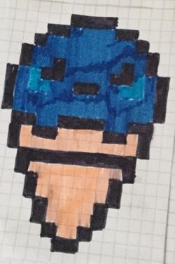 *Glace bleu*