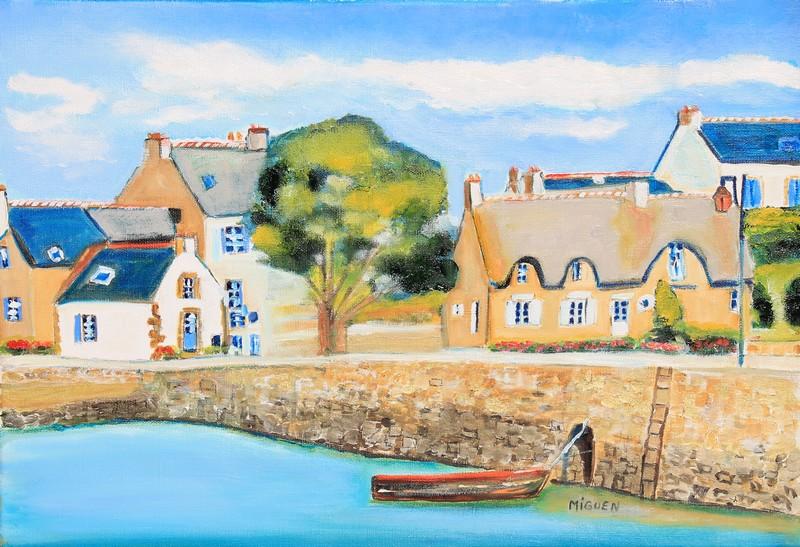 Tableau peinture de l'île de Saint Cado