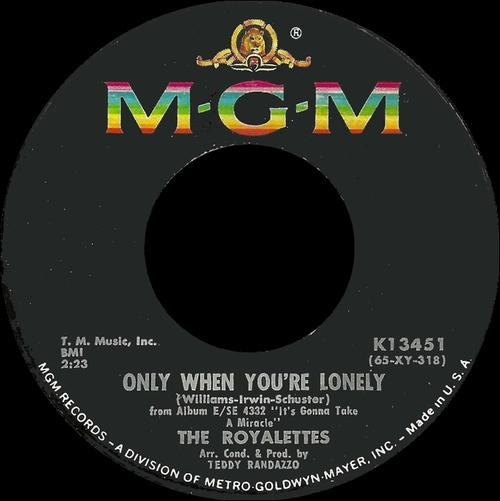 "The Royalettes : CD "" It's Gonna Take A Miracle - MGM Sides "" Ichiban Records SCL 2110-2 [ US ]"