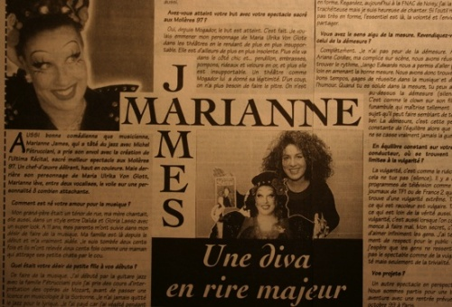 96. Marianne James - chanteuse