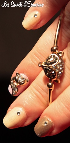 nail art, renard, vernis, polish