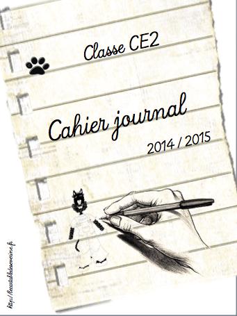 Mon affiche de classe 2014 mon cahier journal 2014