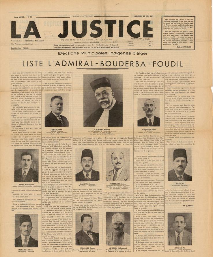 Journal La Justice du 23 juin 1937