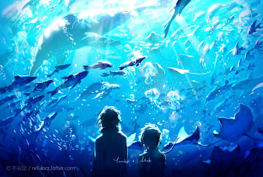 décoration aquarium manga