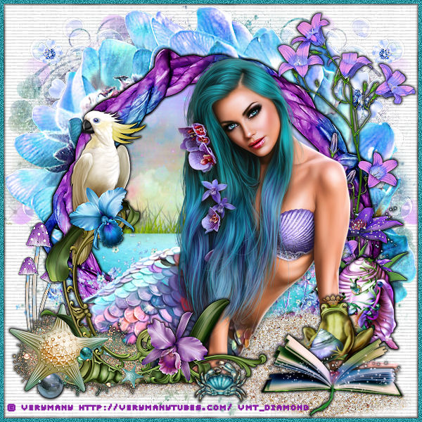 "Tutoriel ""Mermaid Blue"" de Liligraph"