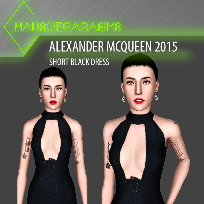 ALEXANDER MCQUEEN 2015 SHORT BLACK DRESS
