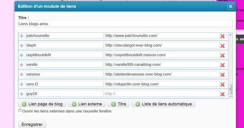 Inserer  un lien dans les blogs amis- Aide Informatique sur Eklablog