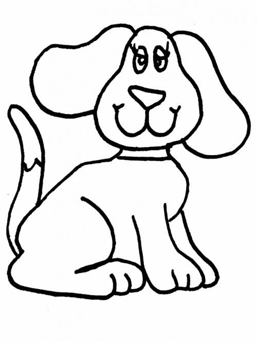 Coloriages chiens à imprimer.