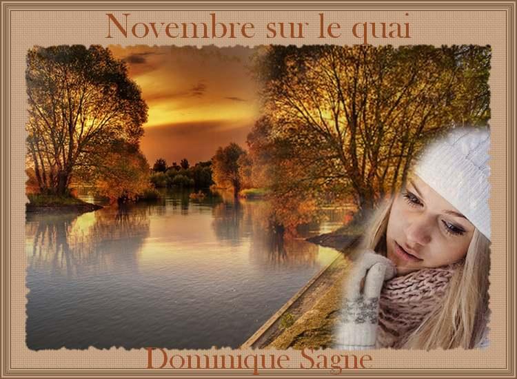 """"""" Novembre sur le quai """"  poème de Dominique Sagne"""