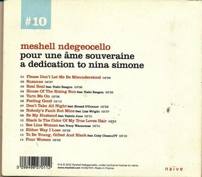 Covers : Meshell Ndegeocello - Pour Une Ame Souveraine, A Dedication to Nina Simone [2012]