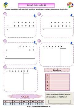 Calculs écrits codés 2